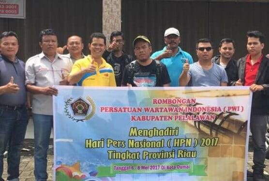 PWI Pelalawan Hadiri Peringatan HPN di Dumai
