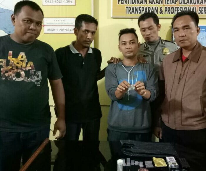 Polsek Bangkinang Barat Tangkap Pelaku Narkoba di Koto Semiri Desa Ganting Damai Salo