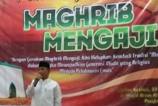 Bupati Pelalawan Resmikan Maghrib Mengaji