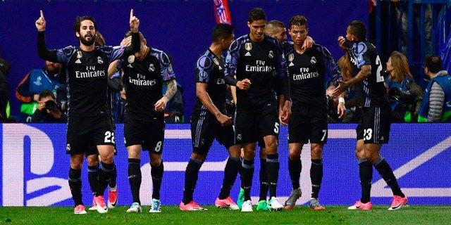 Pertandingan Atletico Madrid vs Real Madrid skor 2-1