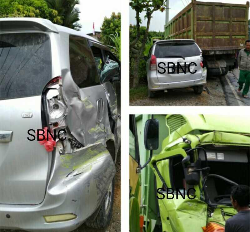 Mobil Disdik Pelalawan Tabrakan di Seikijang