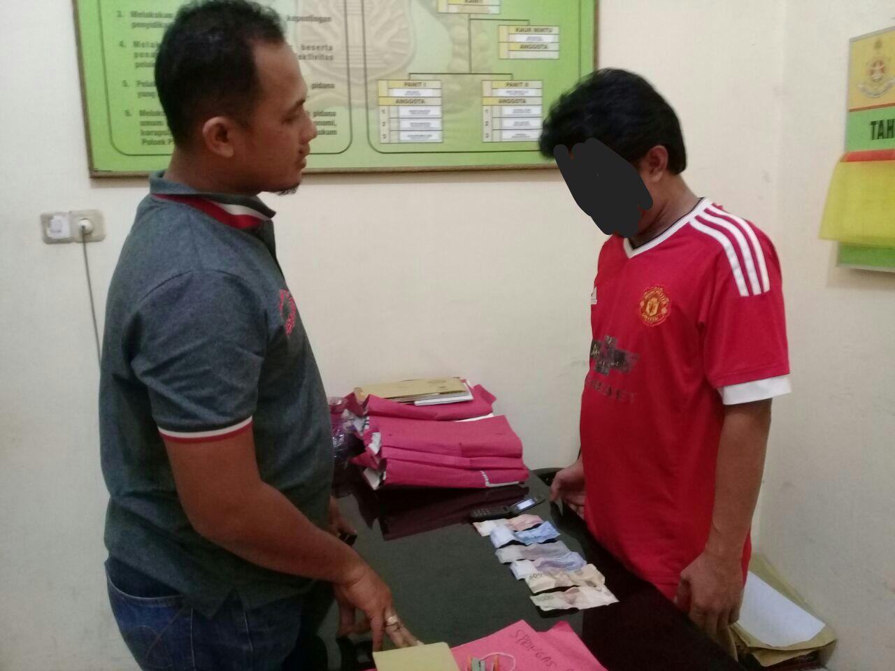Penjual Togel, Warga Jalan Cempaka Kerinci Ditangkap