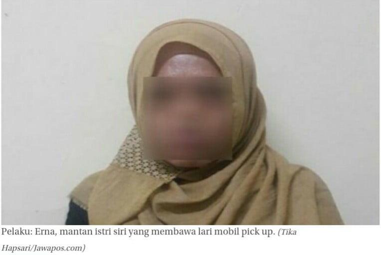 Mobil Pick Up Dibawa Kabur Mantan Istri Siri