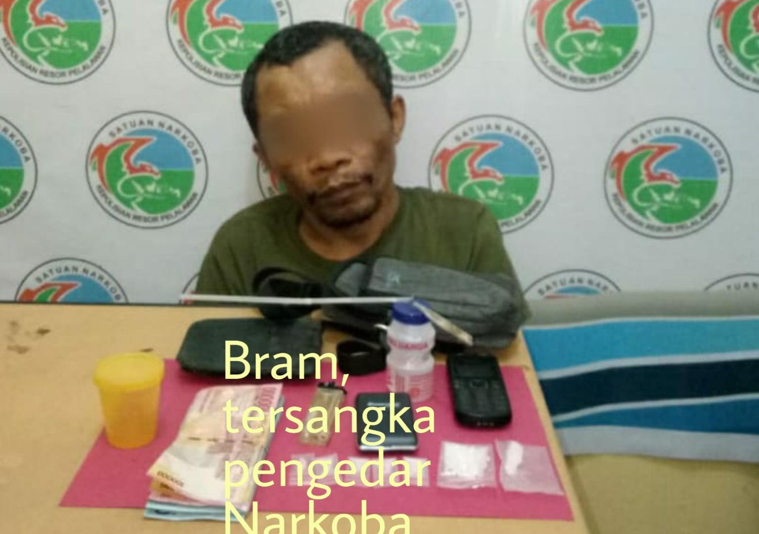 Badar Narkotika Ditangkap di Desa Delik BB 5,8 gram