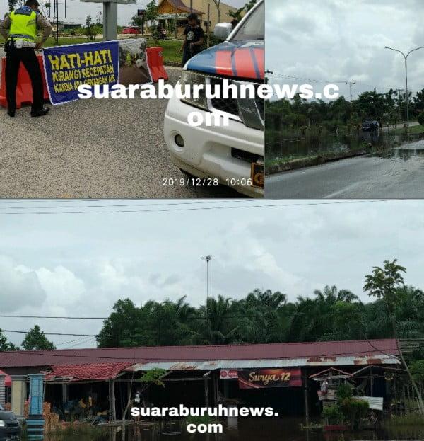 Selain di Jalan Protokol Pelalawan, Banjir Juga Genangi Ruko
