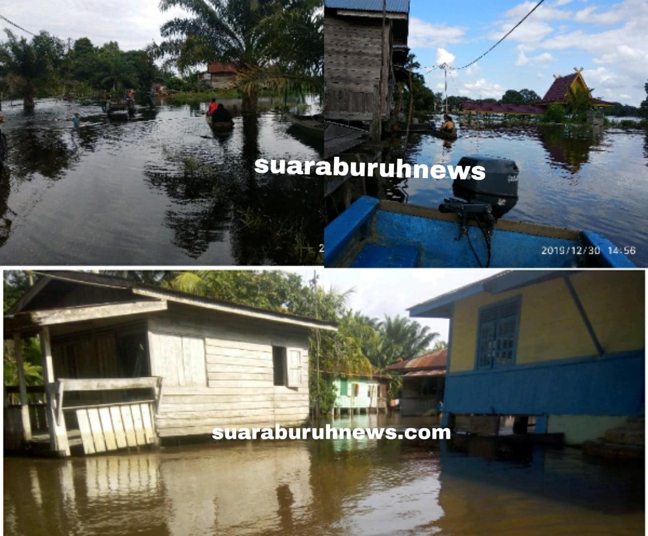 Air Banjir di Pelalawan Masih Naik tak Setinggi Kamarin