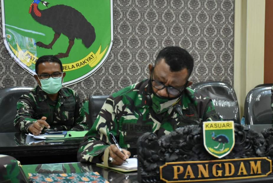 Kodam XVIII/Kasuari Ikuti Vicon Mabes TNI