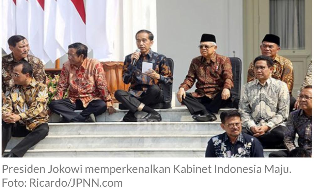 Menurut Survei IPO, Ini Nama – nama Menteri yang Perlu Diganti Presiden