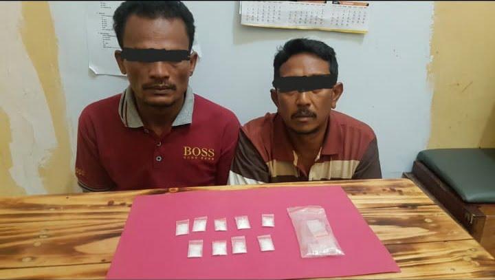 Kurir dan Penguna Narkoba Ditangkap di Pangkalan Kerinci Barat, 4 Gram Sabu Diamankan