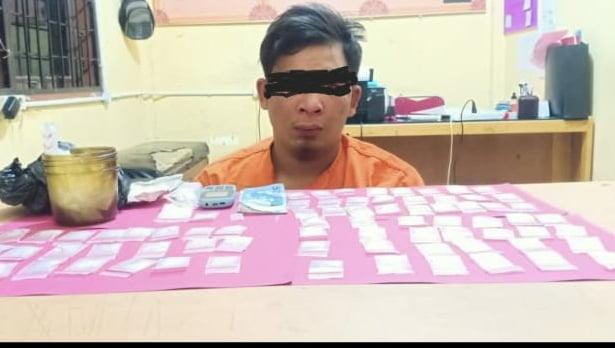Bandar Sabu Ditangkap Polres Pelalawan di Desa Bagan Limau