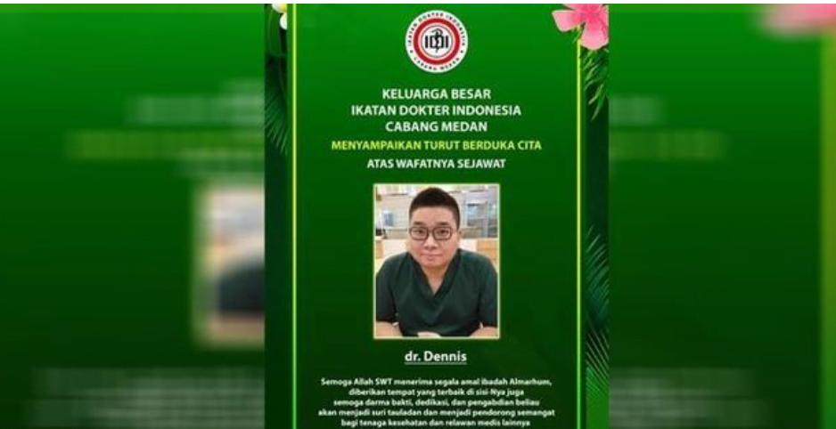 IDI Medan Berduka, dr Dennis Meninggal Dunia Akibat Covid-19