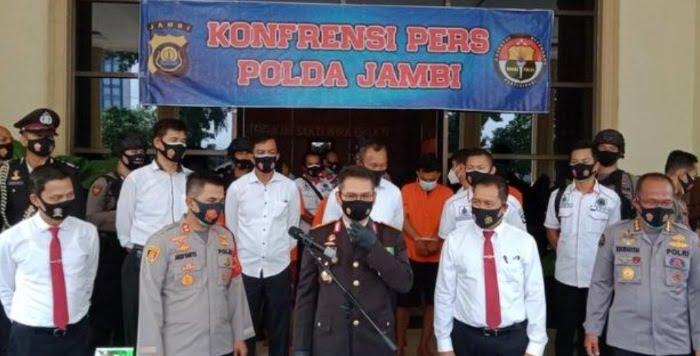 5 Kurir Asal Pekanbaru Bawa 31 Kg Sabu ke Jakarta Ditangkap di Jambi
